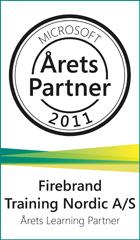 Firebrand Training Microsoft Årets Learning Partner